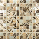 "LEOPARD • Mixes Collection by Vidrepur • Recycled Mosaic 1"" x 1"" Glass Tiles"