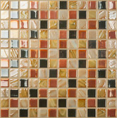 "MEADOW • Mixes Collection by Vidrepur • Recycled Mosaic 1"" x 1"" Glass Tiles"