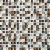 "Cabernet • Bliss Collection by Anatolia Tile & Stone • 5/8"" x 5/8"" • Glass Stone Blend Mosaics"