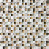 "Bamboo • Bliss Collection by Anatolia Tile & Stone • 5/8"" x 5/8"" • Glass Stone Blend Mosaics"