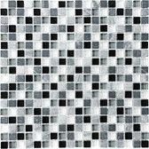 "Midnight • Bliss Collection by Anatolia Tile & Stone • 5/8"" x 5/8"" • Glass Stone Blend Mosaics"