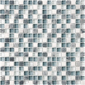 "Waterfall • Bliss Collection by Anatolia Tile & Stone • 5/8"" x 5/8"" • Glass Stone Blend Mosaics"