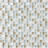 "Spa • Bliss Collection by Anatolia Tile & Stone • 5/8"" x 5/8"" • Glass Stone Blend Mosaics"