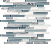 Waterfall • Bliss Collection by Anatolia Tile & Stone • Staggered • Glass Stone Linear Blend Mosaics