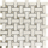 Berkshire Crema Marble Polished | Basketweave Mosaic Tile