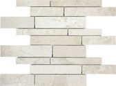 Berkshire Crema Marble Polished | 5/8 Random Strip Mosaic Tile