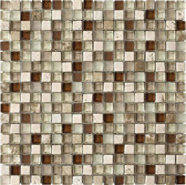 "Travertino Mix Light / Dark • Stone Medley Collection by Northstar Ceramics • 5/8"" x 5/8"" • Glass & Stone Mosaic Tiles"
