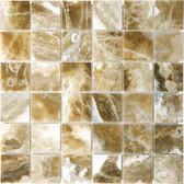"""Caramel Onyx • 2"""" x 2"""" Polished Mosaic"""