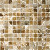 """Caramel Onyx • 1"""" x 1"""" Polished Mosaic"""