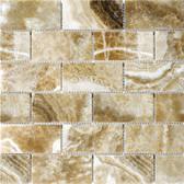 """Caramel Onyx • 2"""" x 4"""" Polished Mosaic"""