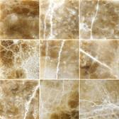 "Caramel Onyx • 4"" x 4"" Polished Field Tile"