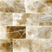 "Caramel Onyx • 3"" x 6"" Polished Field Tile"