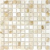 "Crema Onyx • 1"" x 1"" Polished Mosaic"