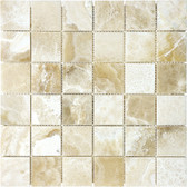 "Crema Onyx • 2"" x 2"" Polished Mosaic"