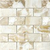 "Crema Onyx • 2"" x 4"" Polished Mosaic"