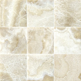 "Crema Onyx • 4"" x 4"" Polished Field Tile"