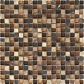 "Dark / Light Emperador Blend • Stone Medley Collection by Northstar Ceramics • 5/8"" x 5/8"" • Glass & Stone Mosaic Tiles"