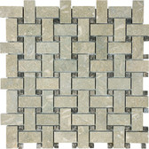 Seagrass Limestone • Basketweave Honed Mosaic