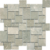 Seagrass Limestone • Mini Versailles Honed Mosaic