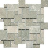 Seagrass Limestone • Mini Versailles Honed Mosaic