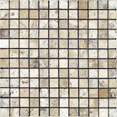 Picasso Travertine Tumbled | 1X1 Mosaic Tile