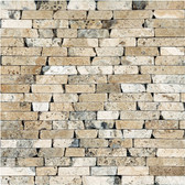 Picasso Travertine Tumbled | 5/8 Random Strip Mosaic Tile