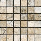 Picasso Travertine Tumbled | 2X2 Mosaic Tile