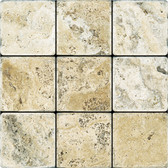 Picasso Travertine Tumbled | 4X4 Field Tile