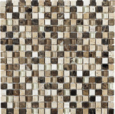 "Mezzo • Stone Medley Collection by Northstar Ceramics • 5/8"" x 5/8"" • Glass & Stone Mosaic Tiles"