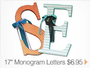 17 in Monogram Letters