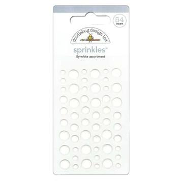 White Doodlebug Sprinkle Dots
