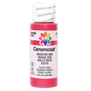 Delta Ceramcoat ® Acrylic Paint, Rooster Red