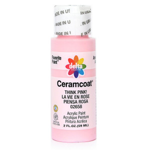 Delta Ceramcoat ® Acrylic Paint, Think Pink