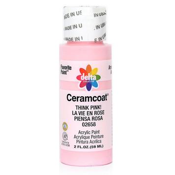 Delta Ceramcoat ® Acrylic Paint, Think Pink