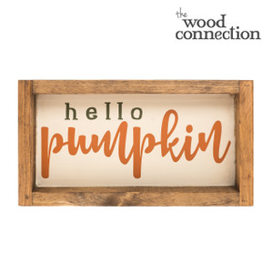 Hello Pumpkin Box Sign