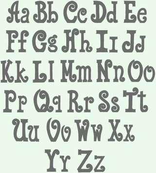 Curly Alphabet