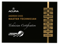 Black acrylic plaque with gold metal accent strip