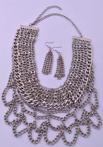 Audri Chain Stack Bib Necklace