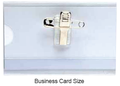 Clear Rigid Plastic card holder - Business Card Size