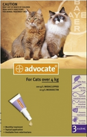 Advocate Cat Large Over 9lbs (4Kg) - 3 Pack