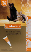 Advocate Cat Small Under 9lbs (4Kg) - 6 Pack