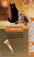 Advocate Cat Small Under 9lbs (4Kg) - 3 Pack