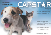 Capstar tablets - 6 pack : Cats & Small Dogs: 2-25 lbs (0-11 kg)