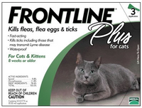 Frontline Plus For Cats & Kittens (up to 18 lbs or 8 kg) 3Pk