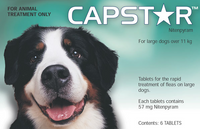 Capstar tablets - 6 pack: Large Dogs: 25-125 lbs (11-55 kg)