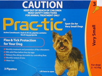 Prac-tic - 3 pack (Orange): Very Small Dogs: 4-10 lbs (2-4.5 kg)