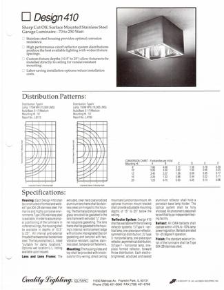 Philips Quality Lighting 410 Brochure  page 1