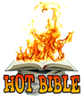 NEW - Hot Bible  - Real flames appear when the Bible is opened!