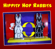 Best Seller - Hippity Hop Rabbits 6 Inch  -Black and white rabbits change places- then change color! Comic magic.