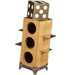 DOUBLE Block Penetration - STAGE SIZE -Wooden die passes through two steel blades.